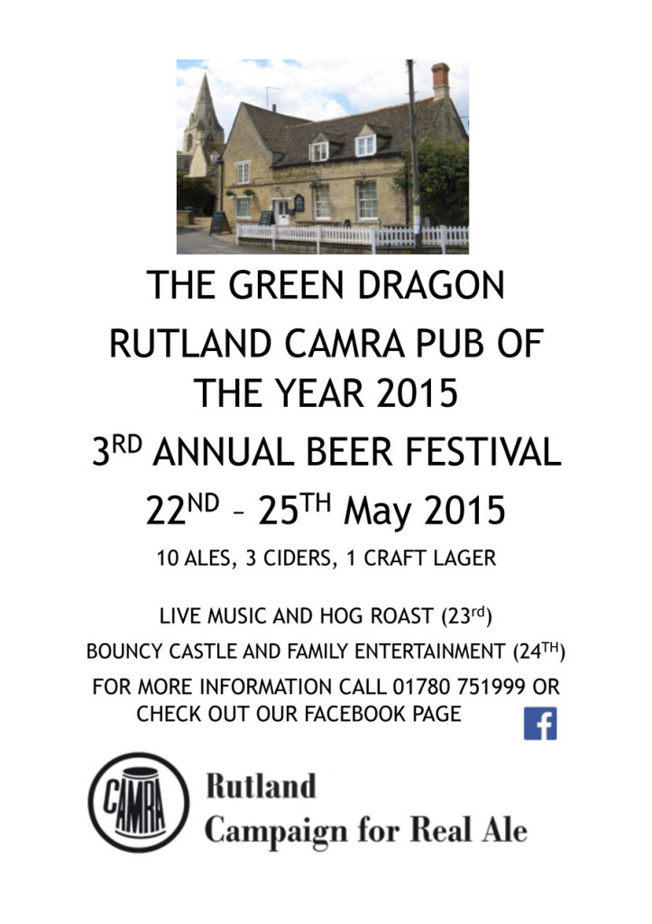 Green Dragon Ryhall Beer Festival 2015