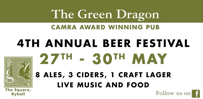 The Green Dragon Beer Festival 2016 – Ryhall