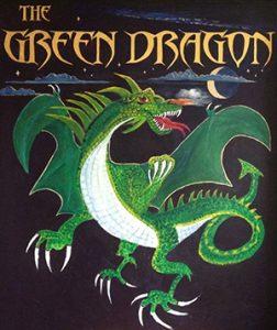The Green Dragon Pub Ryhall Logo