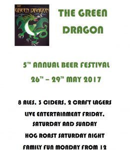 The Green Dragon 5th Annual Beer Festival 2017!